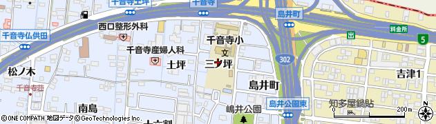 愛知県名古屋市中川区富田町大字千音寺(三ノ坪)周辺の地図
