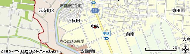 愛知県津島市唐臼町(中杁)周辺の地図