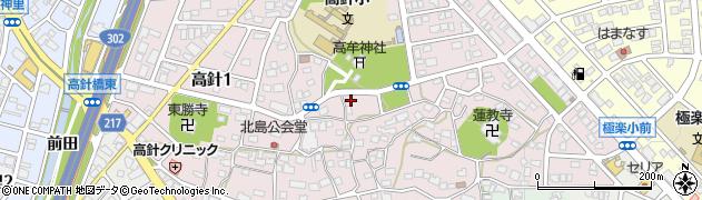 愛知県名古屋市名東区高針周辺の地図