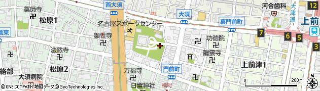 愛知県名古屋市中区門前町周辺の地図