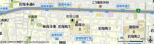 名古屋国税局岩塚寮周辺の地図