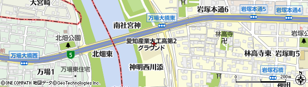 愛知県名古屋市中村区岩塚町(分杭下)周辺の地図