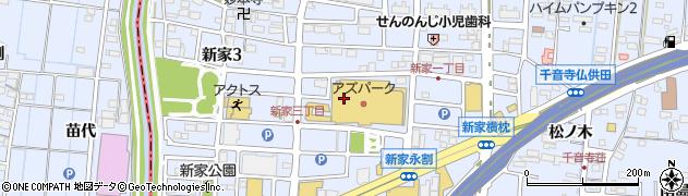 愛知県名古屋市中川区新家周辺の地図