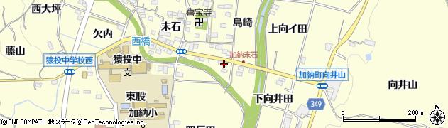 愛知県豊田市加納町(千場貝津)周辺の地図