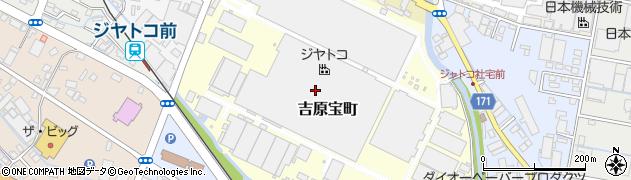静岡県富士市吉原宝町周辺の地図