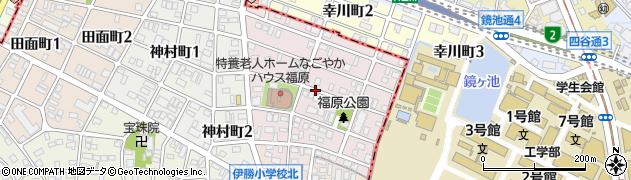 愛知県名古屋市昭和区福原町周辺の地図