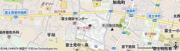 静岡県富士市平垣町周辺の地図