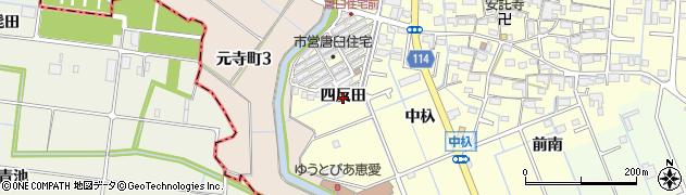 愛知県津島市唐臼町(四反田)周辺の地図