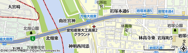 愛知県名古屋市中村区岩塚町(上小路)周辺の地図