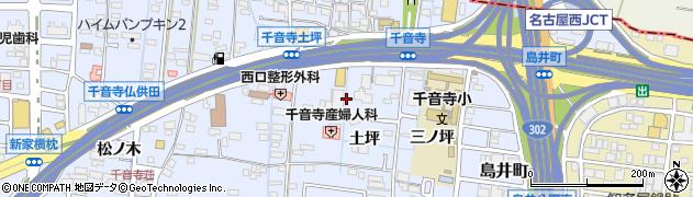 愛知県名古屋市中川区富田町大字千音寺(土坪)周辺の地図