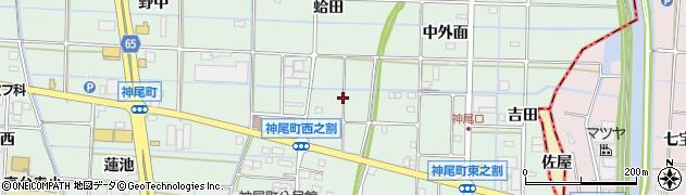 愛知県津島市神尾町周辺の地図