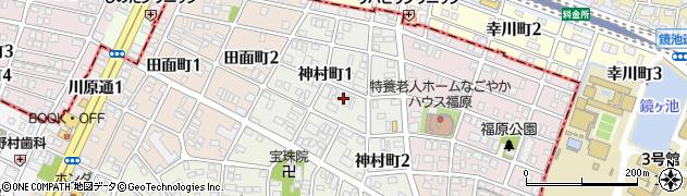 愛知県名古屋市昭和区神村町周辺の地図