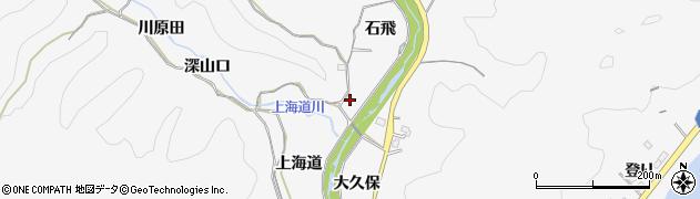愛知県豊田市西広瀬町(石飛)周辺の地図