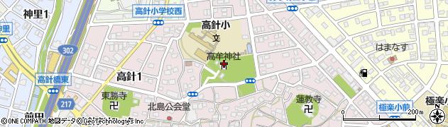 高牟神社周辺の地図
