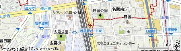 愛知県名古屋市中村区西日置周辺の地図