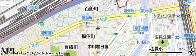 愛知県名古屋市中川区福住町周辺の地図