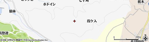 愛知県豊田市中立町(葭ケ入)周辺の地図