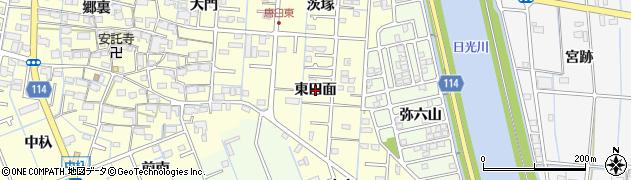 愛知県津島市唐臼町(東田面)周辺の地図
