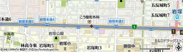 愛知県名古屋市中村区岩塚本通周辺の地図