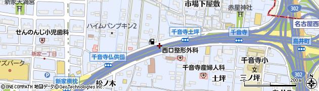愛知県名古屋市中川区富田町大字千音寺(間渡里)周辺の地図