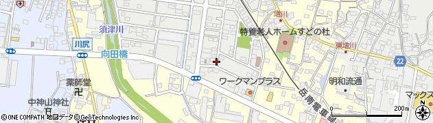 静岡県富士市増川新町周辺の地図