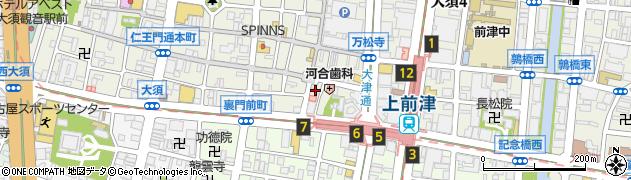 角燈亭周辺の地図