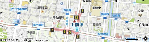 大直種子神社周辺の地図