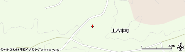 愛知県豊田市上八木町(通洞)周辺の地図