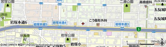 大阪カルビ 名古屋岩塚店周辺の地図