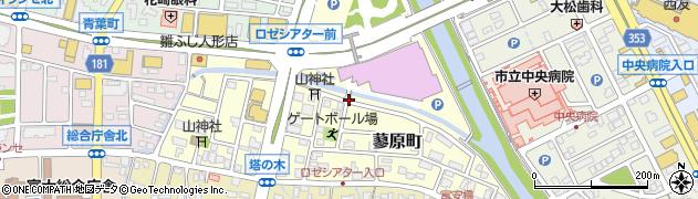 静岡県富士市蓼原町周辺の地図