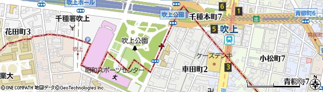 愛知県名古屋市千種区千種町周辺の地図