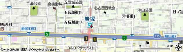 愛知県名古屋市中村区岩塚町(向田)周辺の地図