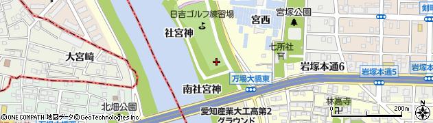 愛知県名古屋市中村区岩塚町(神明西)周辺の地図