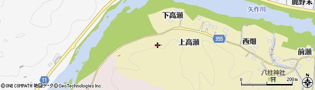 愛知県豊田市国附町(上高瀬)周辺の地図