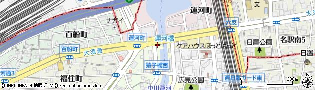 愛知県名古屋市中川区南平野町周辺の地図