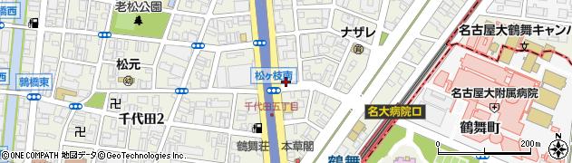 鮨はーべすと鶴舞店周辺の地図