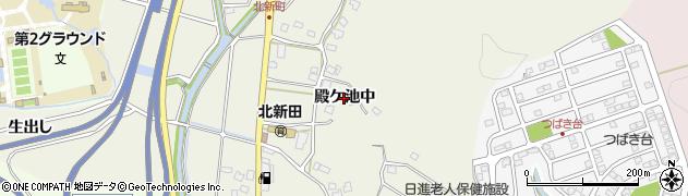 愛知県日進市北新町(殿ケ池中)周辺の地図