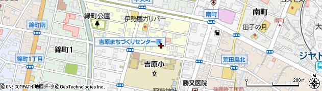 静岡県富士市緑町周辺の地図