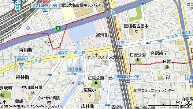 〒454-0002 愛知県名古屋市中川区運河通の地図