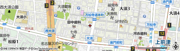 銀のあん 大須商店街店周辺の地図