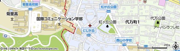 愛知県名古屋市名東区にじが丘周辺の地図