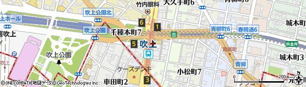 愛知県名古屋市千種区千種通周辺の地図