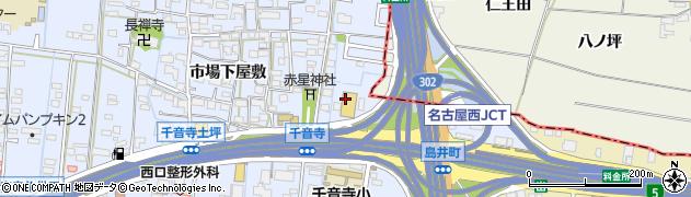 愛知県名古屋市中川区富田町大字千音寺(狭間)周辺の地図