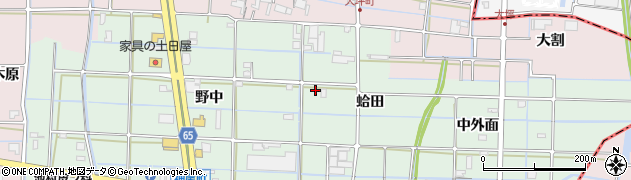 愛知県津島市神尾町(蛤田)周辺の地図