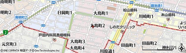 愛知県名古屋市千種区大島町周辺の地図
