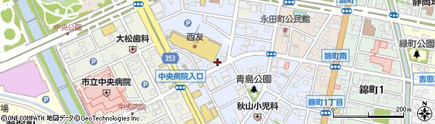 静岡県富士市青島町周辺の地図