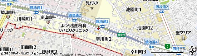 愛知県名古屋市千種区鏡池通周辺の地図