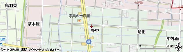 愛知県津島市神尾町(野中)周辺の地図