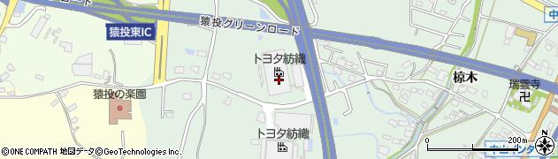 愛知県豊田市西中山町(又吉洞)周辺の地図