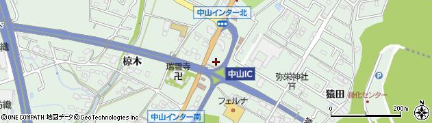 愛知県豊田市西中山町周辺の地図